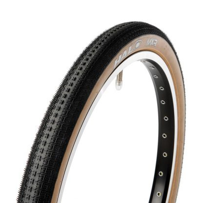 Halo MXR Tyre black with skinwall