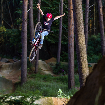image of Finlay Davies riding