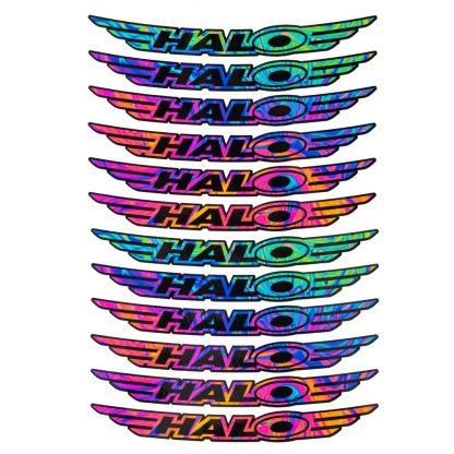 Halo Wheels Oil Slick Decals